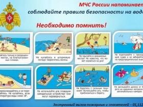 Памятки по обеспечению безопасности на воде